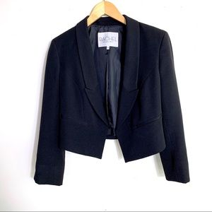 Rachel Roy Cropped Tuxedo Jacket Blazer